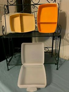 TUPPERWARE Lunch Bundle (2) PACKETTE DIVIDERS & (1) HINGED SANDWICH KEEPER~ExPOw