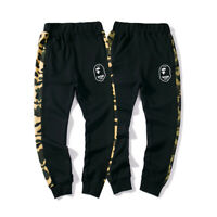 Bape A Bathing Ape Camo Loose Trousers Monkey Head Sport Long Pants Sweatpants