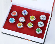 Naruto Set of 10 Akatsuki Rings Boxed Anime Cosplay Prop