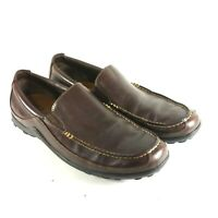 COLE HAAN Men's Loafers Sz 10.5 M Brown Leather Slip On Moc Toe Driving Shoes