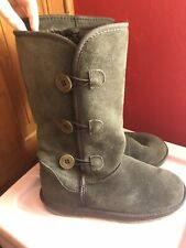 golddigga ladies chocolate suede slouchy boots size 7