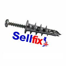 METAL PLASTERBOARD CAVITY WALL SPEED FIXINGS c/w SCREWS (pack of 25)