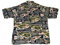 Reyn Spooner New York Yankees Hawaiian Button Up Shirt Mens XXL