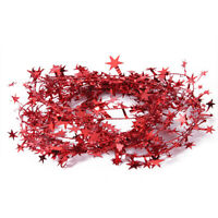 MagiDeal23 Feet Red Star Pattern Tinsel Garland Wreath for Christmas Decoration