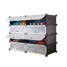 DIY 2 x 4 Cube Shoe Rack Wardrobe Box Storage Closet Organizer Cabinet with Door
