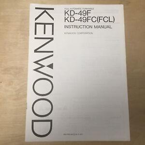 Original Owner User Manual for the Kenwood KD-49F KD-49FC Turntable