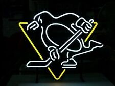 "New Pittsburgh Penguins Hockey Neon Light Sign 17""x14"" Decor Lamp Bar Display"