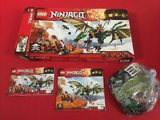 LEGO (70593) NINJAGO DRAGO VERDE + SCATOLA BOX + 2 MANUALI ISTRUZIONI Completo