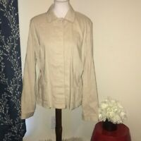 Elie Tahari Linen Blend Blazer Jacket Button Front sz X-Large