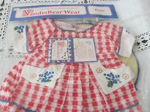 Vanderbear 1992 PICNIC ALICE Outfit New #4236 BEAR DOLL 18""