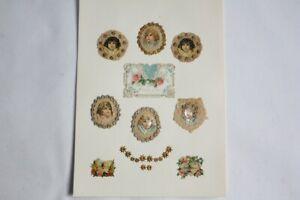 Images chromos gaufrés découpés Angelots 1890 (50258)