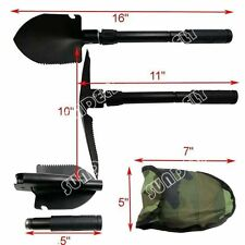 UK Army Military Folding Spade Shovel Pick Axe Camping Metal Detecting Mini Tool