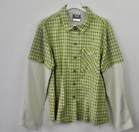 JACK WOLFSKIN Removable Sleeves Ladies Shirt Large Women Green UK 14/16 Casual L