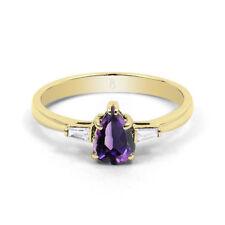 Engagement Amethyst Natural Not Enhanced Fine Gemstone Rings