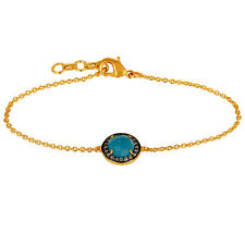 New Womens Fashion 22k Gold Plated Brass Chain Bracelet Handmade Jewelry