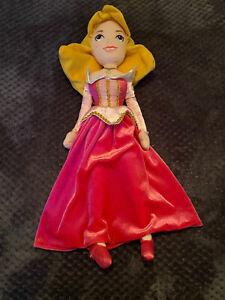 "DISNEY STORE PRINCESS Sleeping Beauty / Aurora 20"" LARGE PLUSH SOFT DOLL TOY"