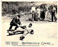 MOTORCYCLE GANG ORIGINAL LOBBY CARD 1957 JOHN ASHLEY ANNE NEYLAND STEVE TERRELL