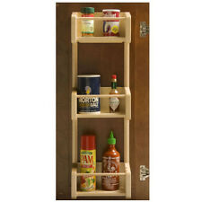 """Omega National 14.5"""" 3 Tray wood Maple Spice Rack Door Mount S9452MNL1"""