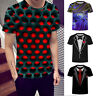Funny Hypnosis T-Shirt Men Women Colorful 3D Print Casual Short Sleeve Tee Tops