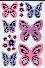 Stickers muraux ou pour les meubles Papillons métallisées  planche 30 cm x 20 cm