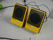 Vintage Pair of Memorex Color Mates unpowered speakers Yellow