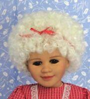 Kemper GRANDMOTHER White Full Cap Doll Wig Size 10-11, Mrs. Santa, Christmas