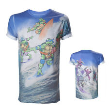 Teenage Mutant Ninja Turtles Allover Surfing Turtles Sublimation T-Shirt Größe S