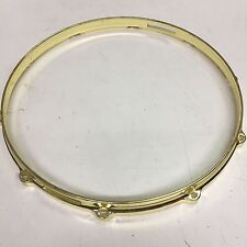 """Drum Hardware Parts - 14"""",  10 Hole Snare Side Only - Gold Hoop - Dia-Cast"""