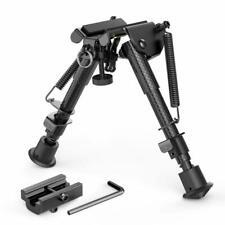 "Xaegis Carbon Fiber 6""- 9"" Rifle Bipod With Adapter -Picatinny M-Lok Keymod, Car"