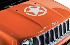 Jeep Renegade Bonnet Decal Vinyl Sticker US Army Star White New Genuine 71807398