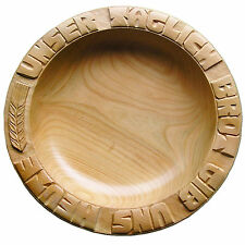Ahorn 29-30 cm Holzteller Brotteller Unser täglich Brot gib uns heute Teller
