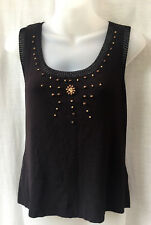 Sirocco Size 10 -12 Knit Top Black Stretch Work Smart Casual Evening Party