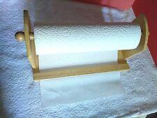 Natural Wood Hanging Paper Towel Holder                         #87