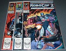 Comic Set of 3 : ROBOCOP  2 - Movie Adaption : MARVEL COMICS
