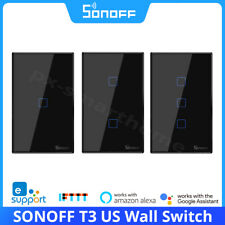 SONOFF T3 US Smart WiFi Panel Wall Touch Switch 433RF APP Remote Control Alexa