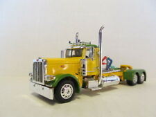 DCP 1/64 SCALE 389 PETERBILT DAY CAB (LONG FRAME) YELLOW & GREEN, GREEN ENGINE