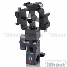 Tri-Hot Shoe Mount Flash Bracket/Umbrella Holder for Canon 430EX II/580EX/540EZ