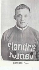Frans BRANDTS Cyclisme wielrennen FLANDRIA ROMEO 60s Radsport Cycling vélo