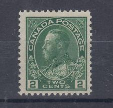 Canada Sc 107e MNH. 1923 2c green KGV Admiral, dry print F-VF