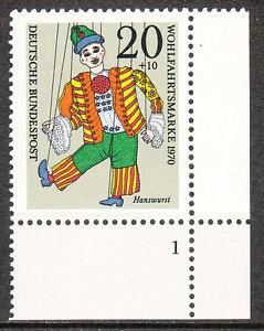 BRD 1970 Mi. Nr. 651 Eckrand 4 Formnummer 1 Postfrisch LUXUS!!! (7905)