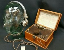 British Ericsson Nottingham 1920s Crystal Radio Set 0/1002 & Sterling Headphones
