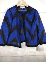 Kasper Size 16 NWT Burnout Blue Black Jacket Msrp $119