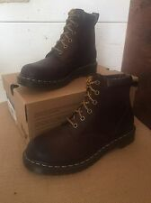 New Dr. Martens Women's Boot Size 6 Men's 5 Dark Brown Burnished Wyoming.