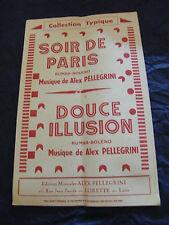 Partition Soir de Paris Alex Pellegrini Douce illusion Music Sheet