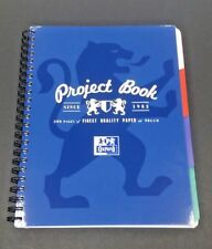OXFORD A4 4 PART PROJECT SUBJECT NOTE BOOK 200 PAGES PUNCHED & PERFORATED BLUE