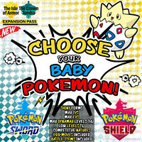 Pokemon Sword and Shield ⚔️ CHOOSE 'ANY 20' SHINY BABY POKEMON! ✨ | 6IV 🛡️