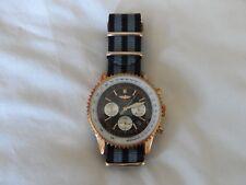 James Bond Lona Reloj Correa de la OTAN para caber Relojes Breitling De Oro Rosa de 22 mm