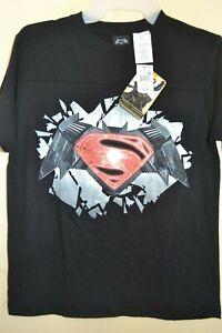 DAWN OF JUSTICE//BATMAN vs SUPERMAN-BOYS SIZE 10//12 /& 14-LICENSE SHORT SLEEVE-NWT