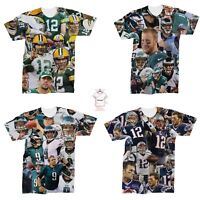0c83523a2d4 New NFL Football USA Players Tom Brady Nick Foles T-Shirt Unisex 3D Print S
