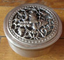 ANCIEN MINI BRULE ENCENS PARFUM ARGENT TIBETAIN 75g  SIGNE CHINE INCENSE BURNER